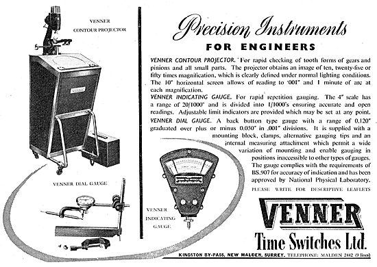 Venner Aircraft Time Switches