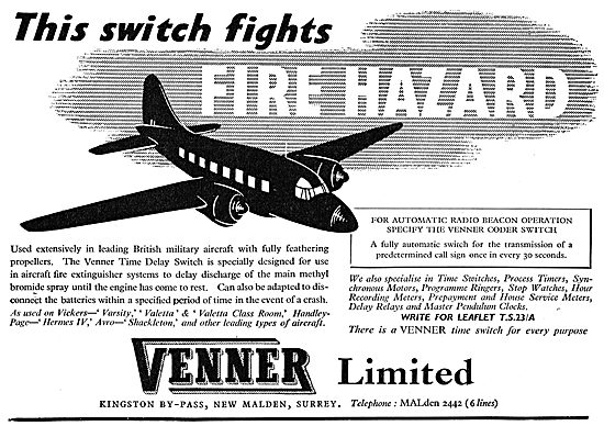 Venner TIme Delay Switch For Aircraft Fire Detection Systems