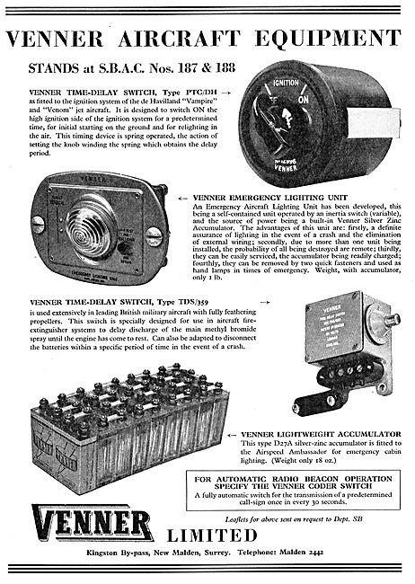 Venner Time Switches & Aircraft Switches