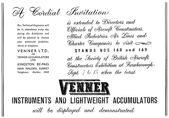 Venner Instruments & Accumulators 1953