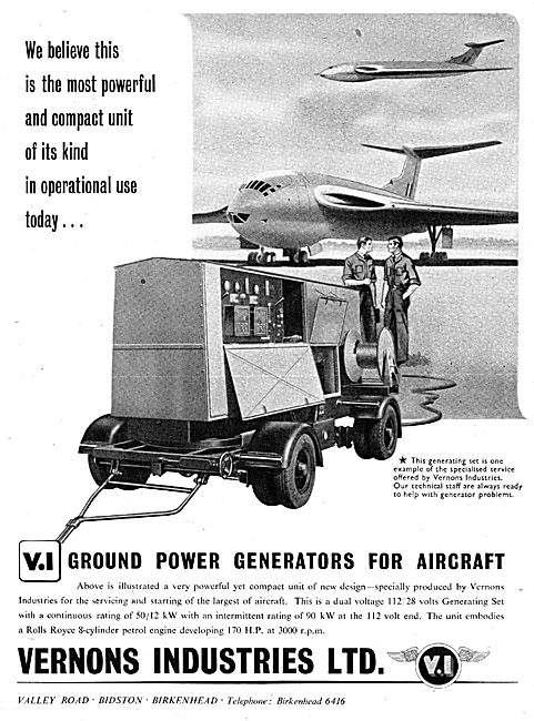 Vernons Industries Ground Power Units GPU & Generators