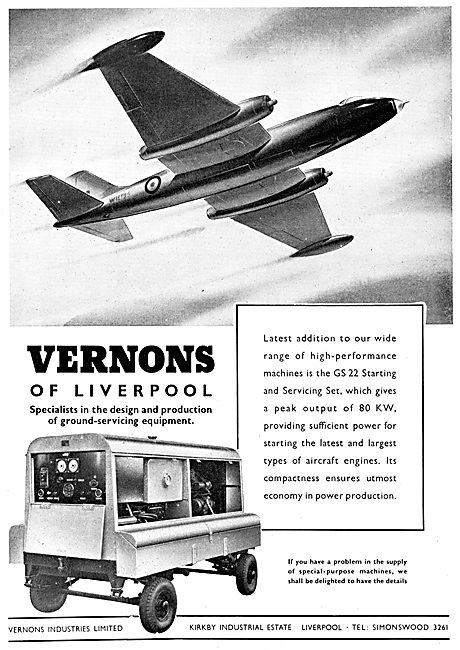 Vernons Industries Ground Power Units GPU & Generators