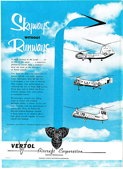 Vertol Helicopters. Skyways Without Runways