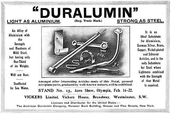 Vickers Duralumin 1913