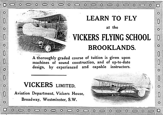 Up To Date Tuition At The Vickers Flying School Brooklands