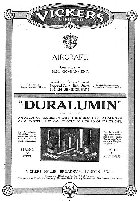 Vickers Aircraft - Vickers Duralumin For Aircraft Constructors