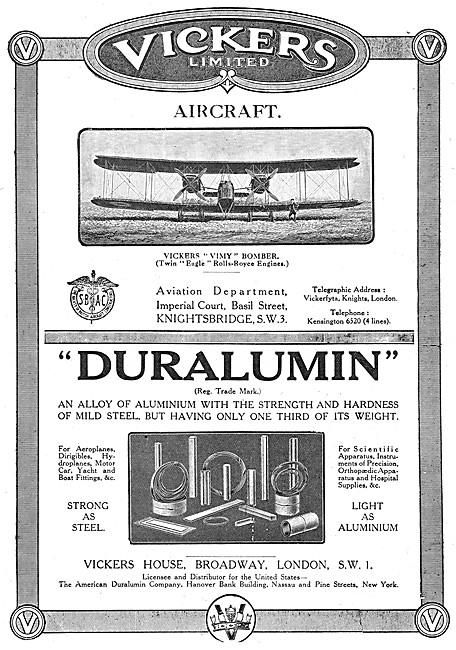 Vickers Vimy - Vickers Duralumin