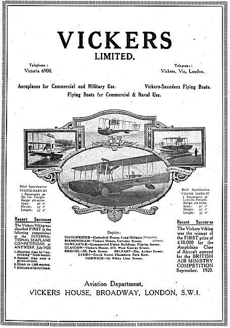 Vickers Viking Commercial Aeroplanes Mark III & Mark IV