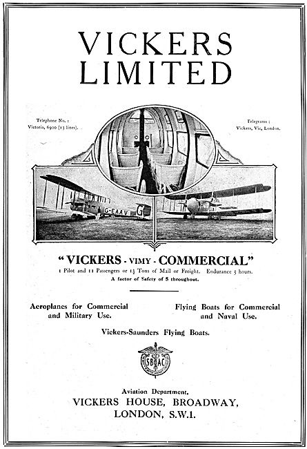 Vickers Vimy Commercial - Vickers-Saunders Flying Boats