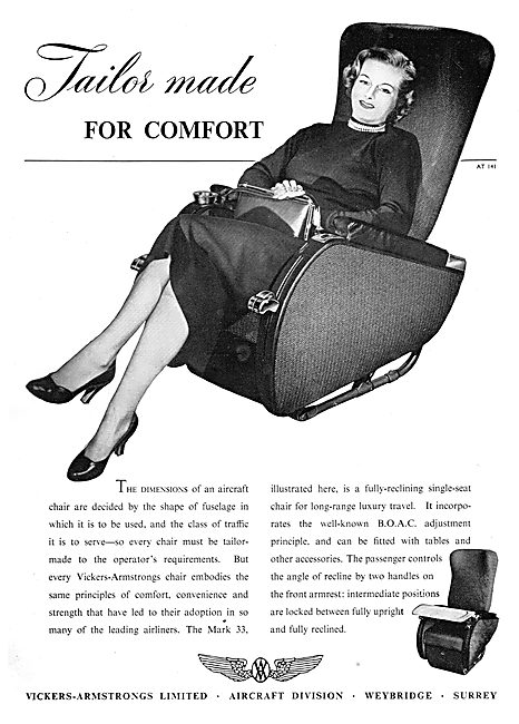 Vickers-Armstrongs Aircraft Seating 1952