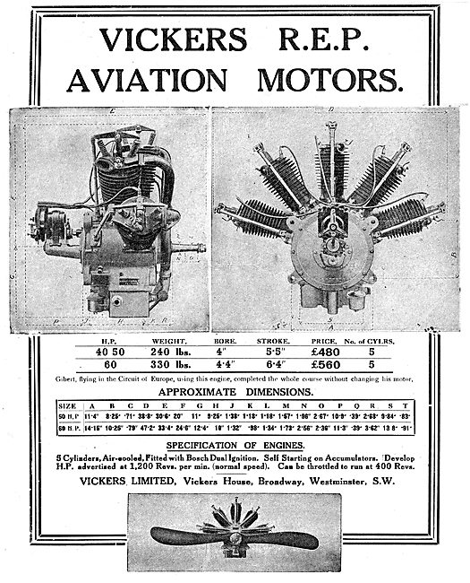 Vickers REP Aviation Motors
