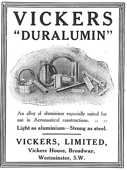 Vickers Duralumin. Light As Aluminium - Strong As Steel.