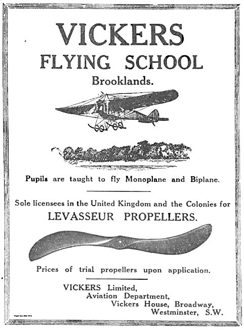 Vickers Flying School Brooklands: Monoplane & Biplane