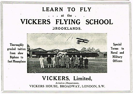 Learn To Fly At The Vickers Flying School Brooklands