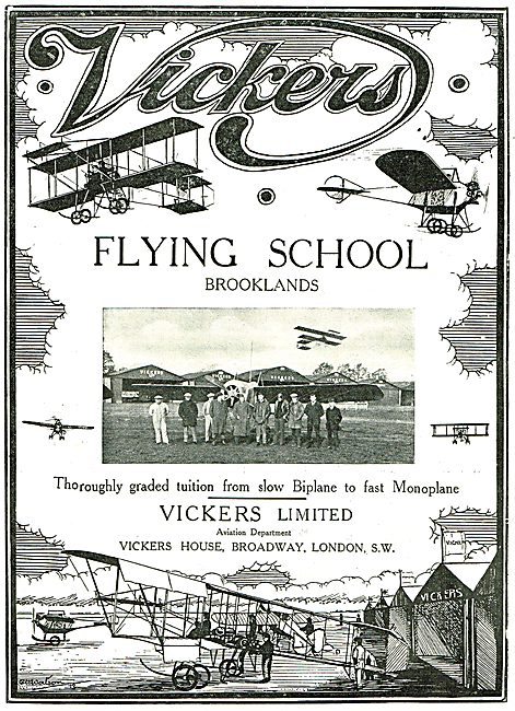 Learn On Slow Biplanes & Fast Monoplanes At Vickers School