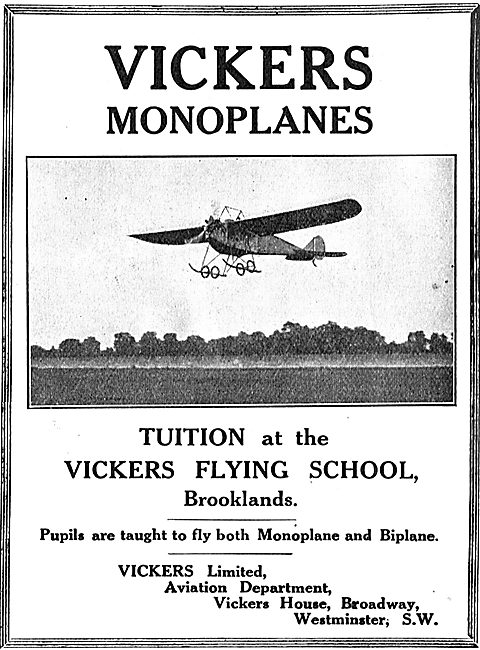 Flying Tuition At The Vickers Flying School Brooklands
