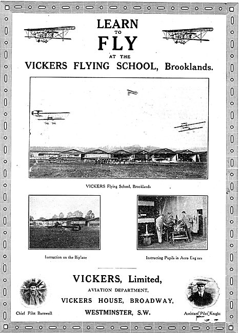 Leran To Fly At The Vickers Flying School Brooklands