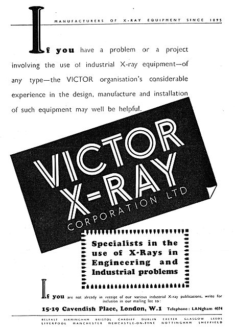 Victor X-Ray Industrial X-Ray Equipment