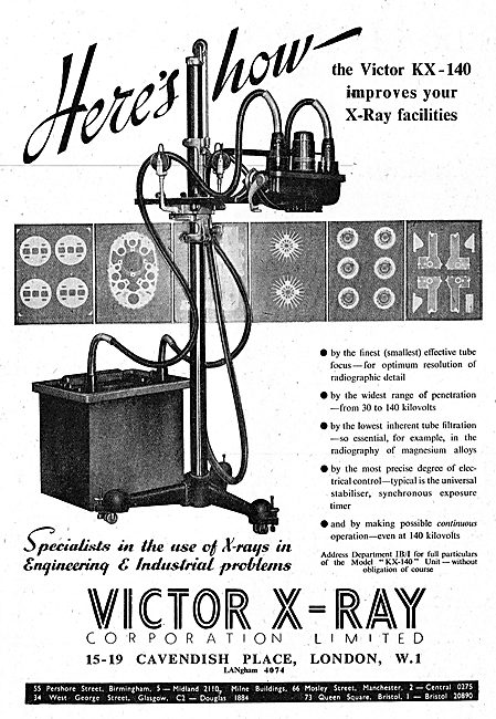 Victor X-Ray Industrial X-Ray Equipment 1942 Advert