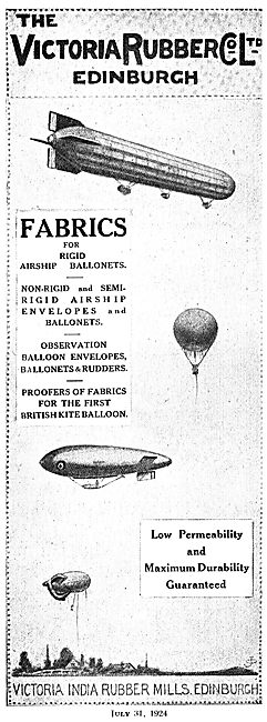 The Victoria Rubber Co - Fabrics For Balloons & Airships