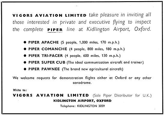 Vigors Aviation - Piper Aircraft 1959