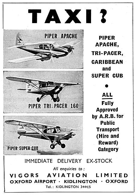 Vigors Aviation - Piper Aircraft Range 1960