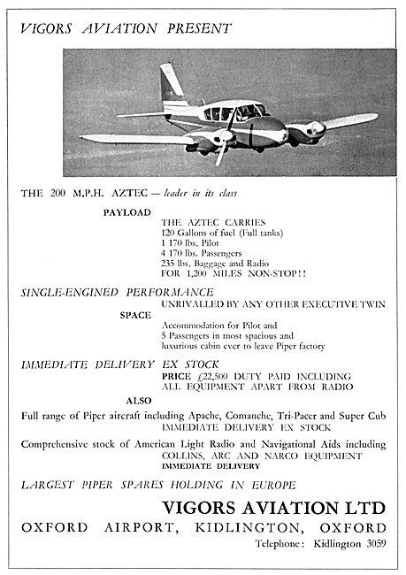 Vigors Aviation - Piper Aztec