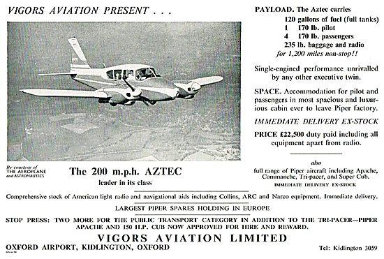 Vigors Aviation  Piper Aztec