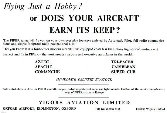 Vigors Aviation  Piper Aircraft
