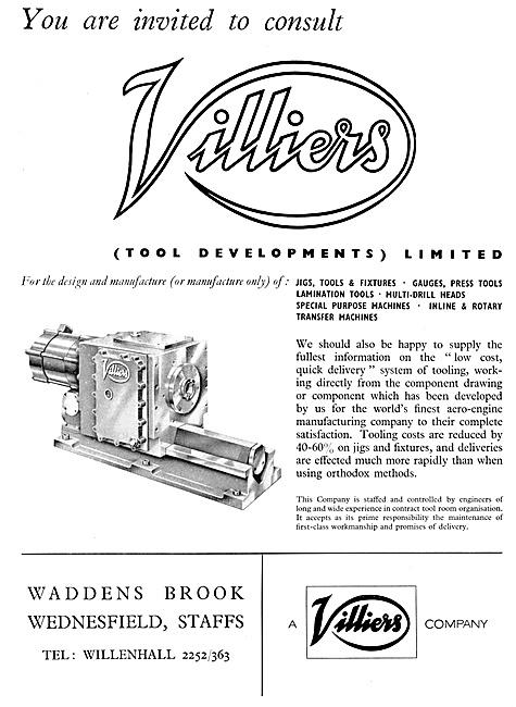 Villiers Jigs, Tools, Fixtures Gauges & General Purpose Machines