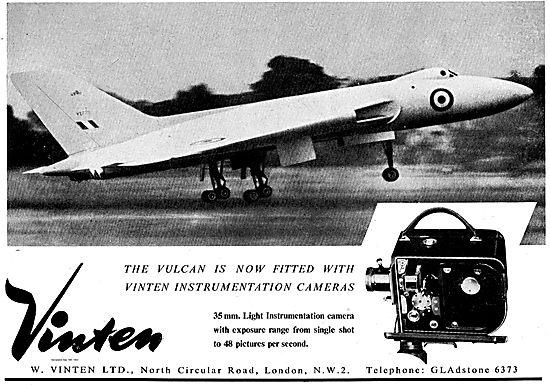 Vulcan Fitted With 35mm Light Vinten Instrumentation Cameras.