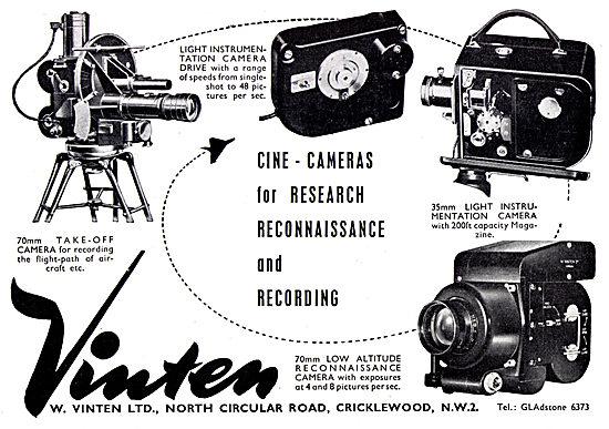 Vinten Cine Cameras For Research, Recon & Recording