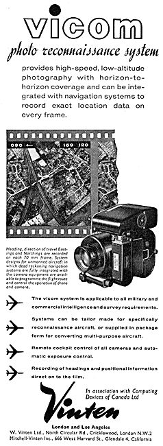 Vinten VICOM Photo Reconnaissance Camera System