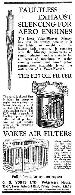Vokes E27 Oil Filter - Vokes-Blanvac - Air Ministry