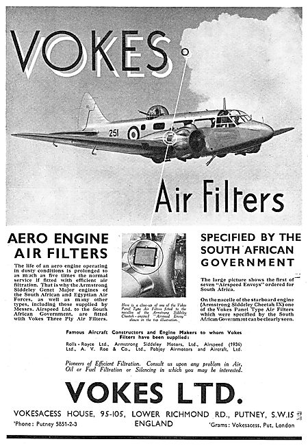Vokes Air Filters - Airpseed Oxford