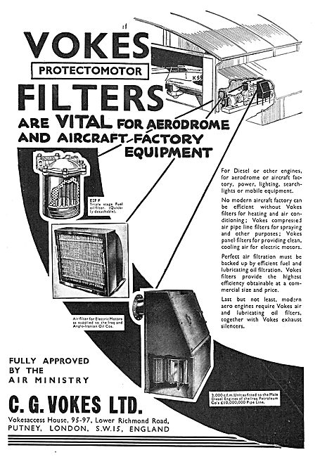 Vokes Filters For Factory Air Conditioning Systems