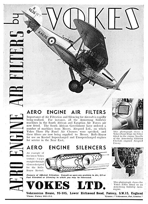 Vokes Filters & Aero Engine Silencers