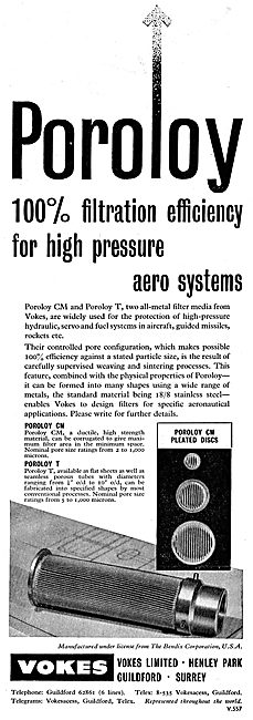 Vokes Poroloy 100% Filtration For High Pressure Aero Systems