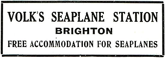 Volks Seaplane Station Brighton. Free Accommodation For Seaplanes