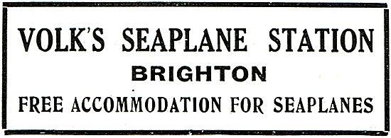 Volks Seaplane Station Brighton. Free Accommodation For Seaplanes