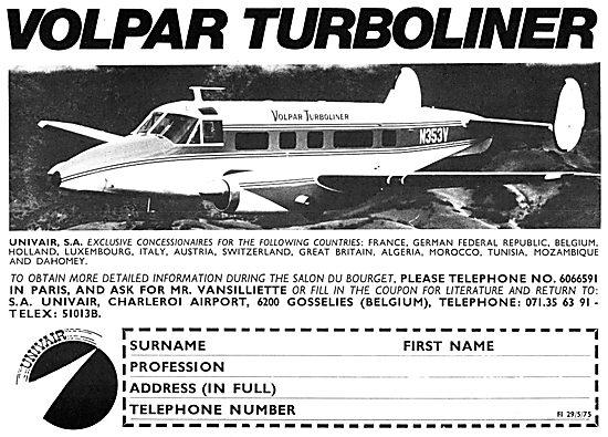 Volpar Turboliner - Repairs & Modifications. S.A.Univair