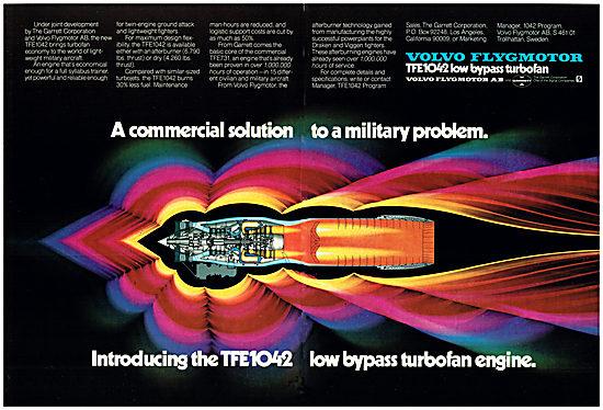 Volvo Flygmotor. TFE 1042 Turbofan Aero Engine