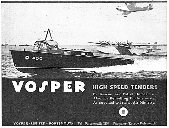 Vosper High Speed Tenders For Rescue & Patrol