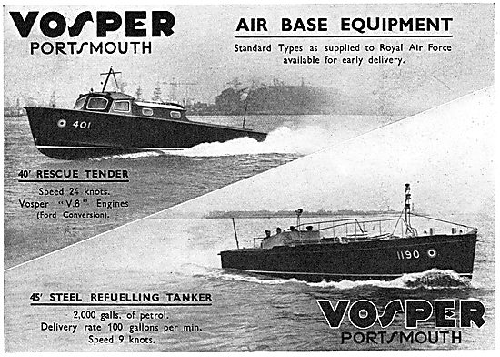 Vosper 40' Rescue Tender - Air BaseEquipment For The RAF