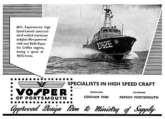 Vosper 68 Foot Experimental Welded Aluminium High Speed Launch