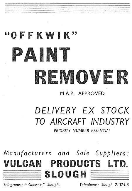 Vulcan Products - Offkwik Paint Remover