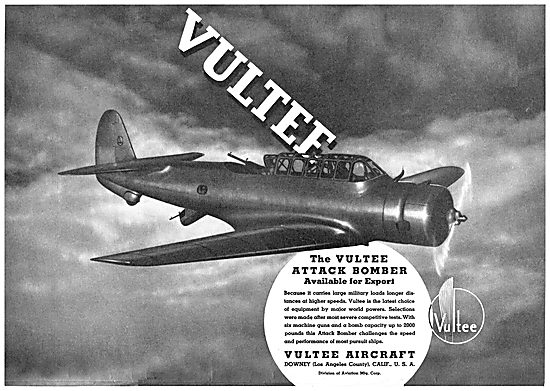 Vultee Attack Aircraft