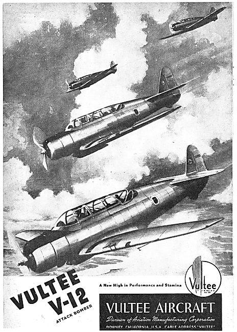 Vultee V-12 Attack Bomber Aircraft