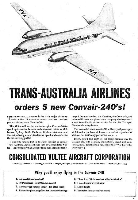 Consolidated Vultee Convair 240