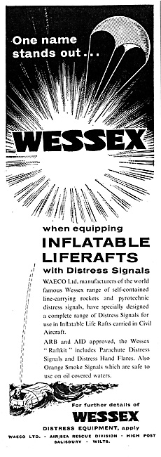 WAECO Wessex Distress Equipment. Liferafts
